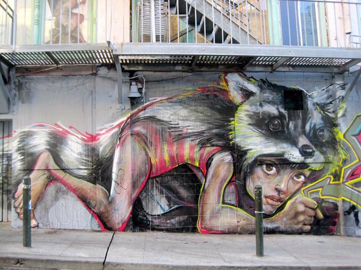 Hera and Akut - San Francisco - Street Art