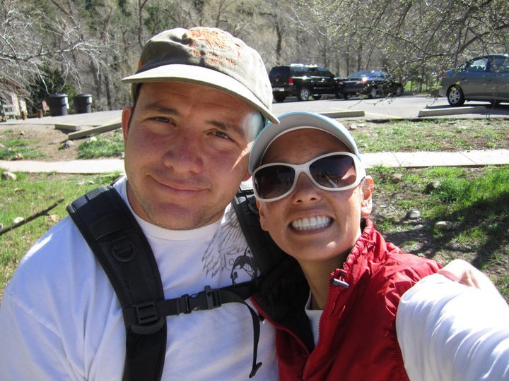 One of our first photos together, hiking the West Fork trail in AZ. - About Us