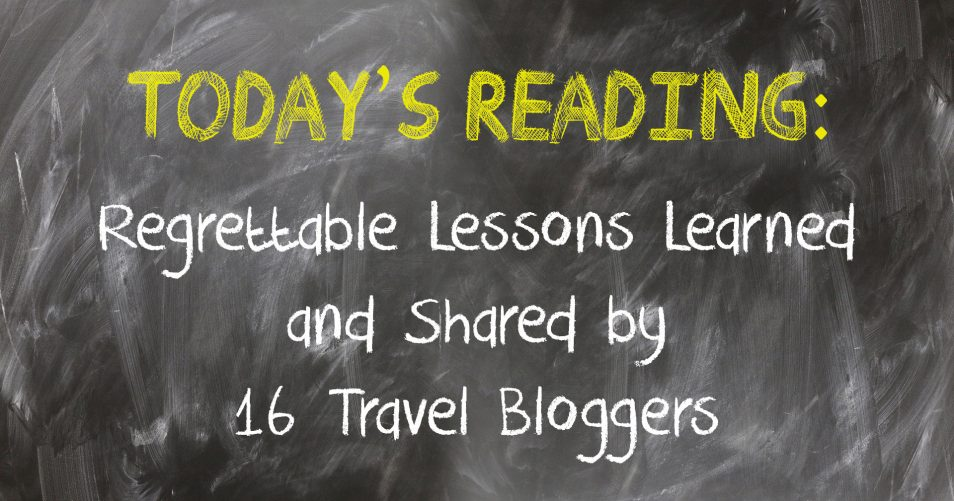 Regrettable Lessons Learned and Shared